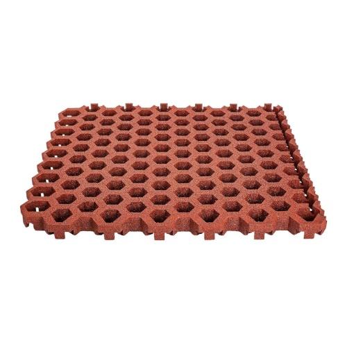 pavimentazione antitrauma in piastre a griglia