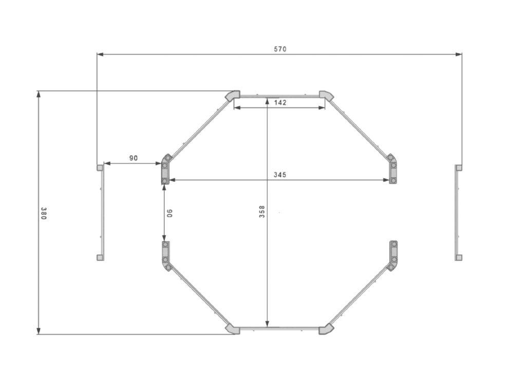 Oktagoal misure